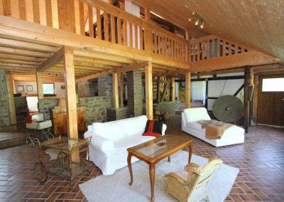 Gastraum in der ehemaligen Mühle