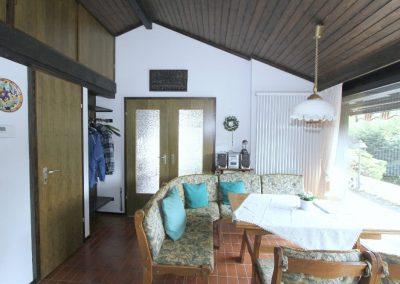 Wohndiele mit Doppelflügeltür zum Wohnzimmer