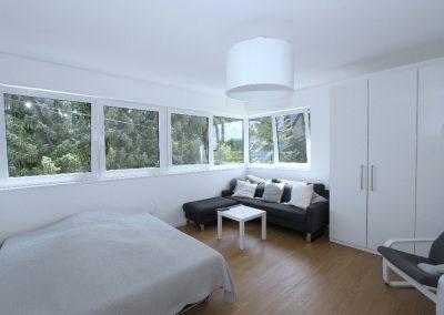 eines der beiden Schlafzimmer im Obergeschoss