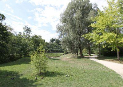 Park in westliche Blickrichtung