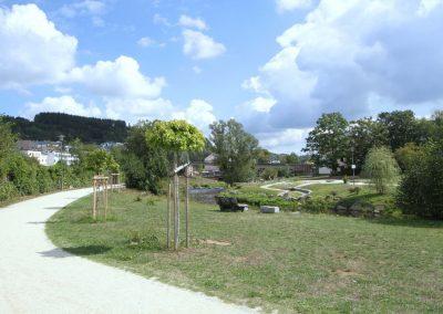 Park in östliche Blickrichtung