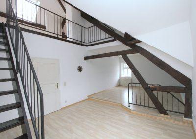 Wohnbereich in Wohnung 4 (DG Haupthaus)